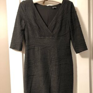 Adrianna Papell Lined Gray Dress size 8